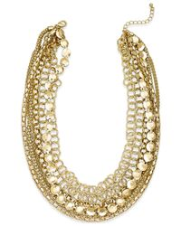 Style & Co. - Metallic Multi-chain Short Necklace - Lyst