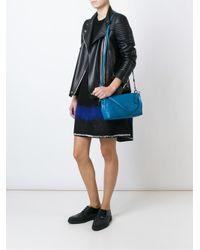 COACH - Blue Embossed Logo Cross Body Bag - Lyst
