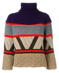 Antonio Marras - Blue Intarsia Knit Sweater - Lyst