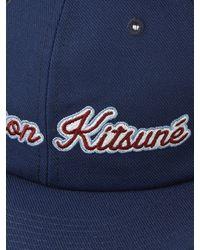 Maison Kitsuné - Blue Logo-embroidered Baseball Cap for Men - Lyst