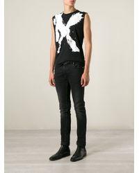 Saint Laurent | Black 'Mr.X' Tank Top for Men | Lyst