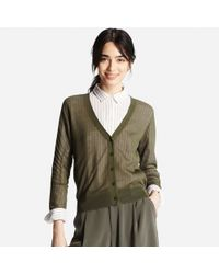 Uniqlo | Natural Women's Lightweight V-neck Cardigan | Lyst