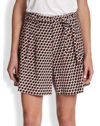 Apiece Apart Multicolor Juana Silk & Cotton Printed Shorts