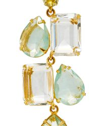 Bounkit | Green Convertible Clear Quartz And Fluorite Earrings | Lyst