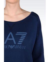 EA7 | Blue Crewneck Sweatshirt | Lyst