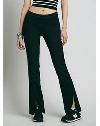 Free People | Black Rolled Crop Corduroy Pant | Lyst