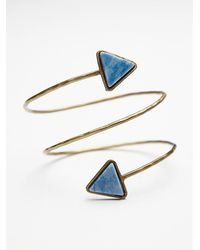 Free People | Blue Womens Stone Wrap Armband | Lyst