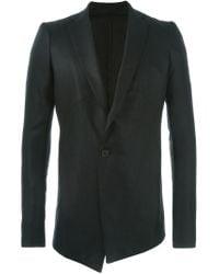 Julius - Black Panelled Asymmetric Jacket for Men - Lyst