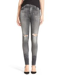 Citizens of Humanity - Blue 'carlie' High Rise Skinny Jeans - Lyst