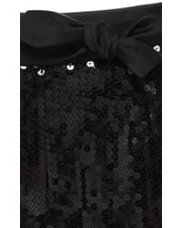 Alexis Mabille - Black Sequin Bow Pant - Lyst