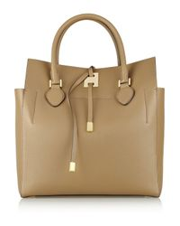Michael Kors Natural Miranda Large Leather Tote