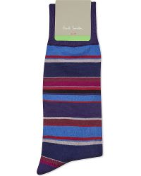Paul Smith | Blue Albermarle Striped Socks for Men | Lyst