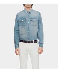 Gucci Light Blue Denim Two-pocket Duke Shirt for men