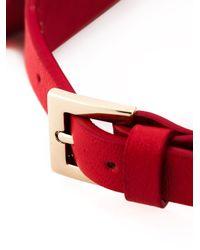 Valentino | Red 'Rockstud' Collar Necklace | Lyst