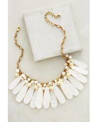 Anthropologie | White Mystic Seas Bib Necklace | Lyst