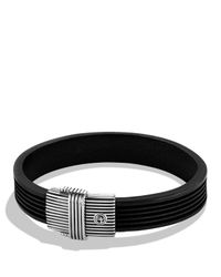 David Yurman | Metallic Royal Cord Id Bracelet In Black for Men | Lyst