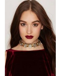 TOPSHOP | Metallic Stll Love You Nyc Luxe Choker | Lyst