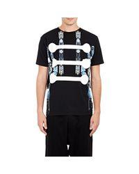 Marcelo Burlon Black Men's Cybourg & Bones T-shirt for men