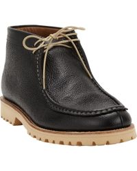 Foot The Coacher Black Carter Wallaby Ankle Boots for men