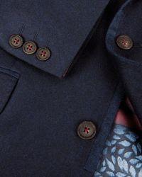 Ted Baker Blue Illion Contrast Trim Blazer for men