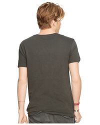 Denim & Supply Ralph Lauren Black Cow-skull Cotton Graphic T-shirt for men
