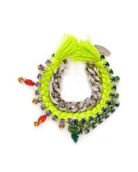 Joomi Lim | Yellow Cotton Braid Crystal Bracelet | Lyst