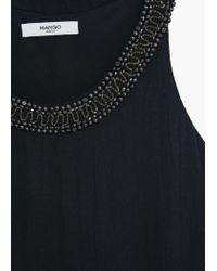 Mango | Black Embroidery Bead Dress | Lyst