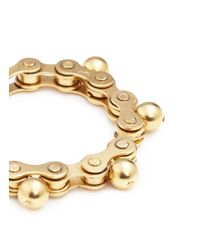 Ela Stone | Metallic 'gears' Sphere Charm Brass Bracelet | Lyst