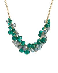 Ted Baker | Green Bead Cluster Necklace | Lyst