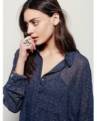 Free People | Blue Fp X Womens Fp X Wayward Sheer Shirtdress | Lyst