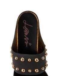 Lanvin Black Studded Leather Sandals