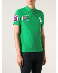 Polo Ralph Lauren Green Embroidered Polo Shirt for men