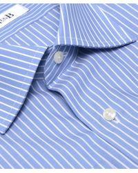 Jules B - Blue Striped Shirt W/ Pocket Square for Men - Lyst