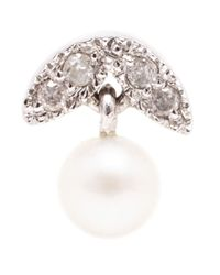 Yvonne Léon | Metallic Diamond And Pearl Stud Earring | Lyst