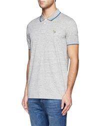 Paul Smith - Gray Zebra Logo Polo Shirt for Men - Lyst