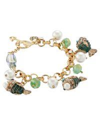 Betsey Johnson - Multicolor Into The Blue Fish Charm Bracelet - Lyst
