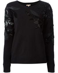 P.A.R.O.S.H. | Black Embellished Sweatshirt | Lyst