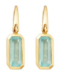 Astley Clarke | Blue Gold-plated Aqua Prismic Drop Earrings | Lyst