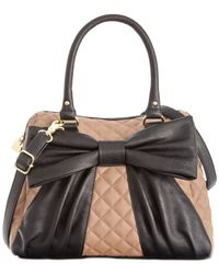 Betsey Johnson | Natural Macy's Exclusive Dome Satchel | Lyst