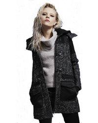 Blanc and Noir | Black Wool Duffle Jacket | Lyst