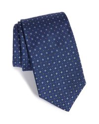 Robert Talbott   Blue Geometric Silk Tie for Men   Lyst
