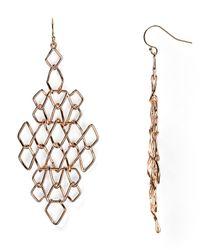 Alexis Bittar - Metallic Barbed Articulating Diamondshaped Wire Earrings - Lyst