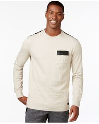 Sean John | Natural Contrast-trim Marled T-shirt for Men | Lyst