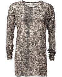 Haider Ackermann - Black Tiger Print Long Sleeve T-shirt for Men - Lyst