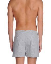 Robinson Les Bains - Gray Swimming Trunks for Men - Lyst