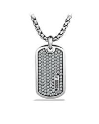 David Yurman | Pavé Tag With Gray Sapphires for Men | Lyst