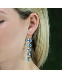 Irene Neuwirth | Blue Fine Aquamarine Drop Earrings | Lyst