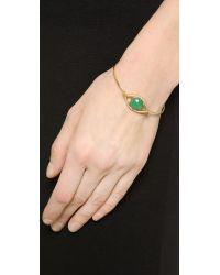 Tai - Metallic Eye Stone Bracelet - Gold/Chrysoprase - Lyst