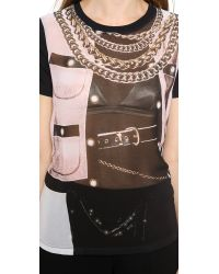 Moschino - Cheap and Chic Short Sleeve Top Black - Lyst