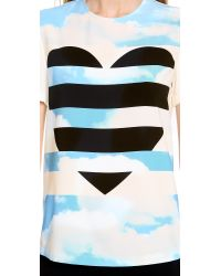 Moschino | White Cheap and Chic Short Sleeve Top | Lyst